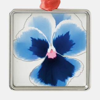 Blue Pansy Flower 201711c Metal Ornament
