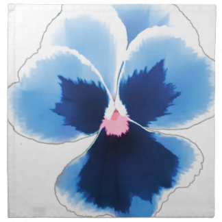 Blue Pansy Flower 201711c Napkin