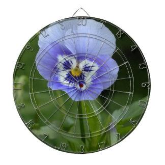 Blue Pansy Flower Dartboard With Darts