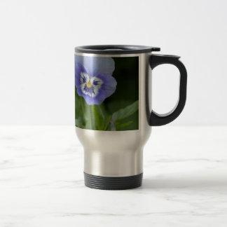 Blue Pansy Flower Mug