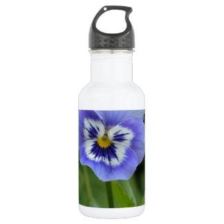 Blue Pansy Flower 18oz Water Bottle