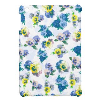 Blue Pansy Flowers floral pattern iPad Mini Case