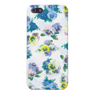 Blue Pansy Flowers floral pattern iPhone 5 Cover