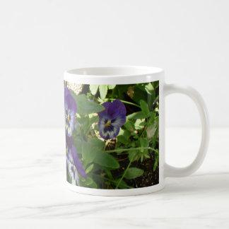 Blue Pansy Mugs
