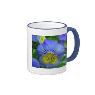 Blue Pansy Coffee Mugs