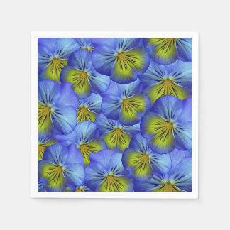 Blue Pansy Napkins Disposable Serviette