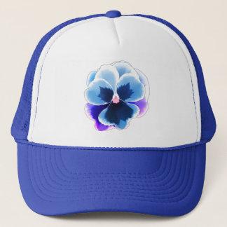 Blue Pansy on Blue Customizable Trucker Hat
