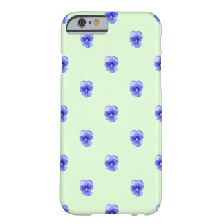 Blue Pansy on Mint - Phone Case Barely There iPhone 6 Case