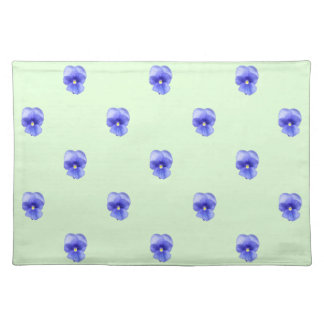 Blue Pansy on Mint - Placemats