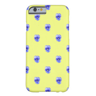 Blue Pansy on Yellow - Phone Case Barely There iPhone 6 Case