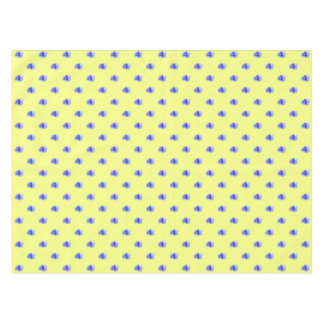 Blue Pansy on Yellow - Tablecloth