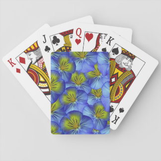 Blue Pansy Playing Cards