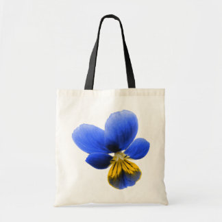 Blue Pansy Tote Bag