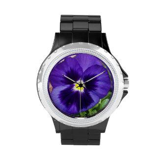 Blue Pansy Watch