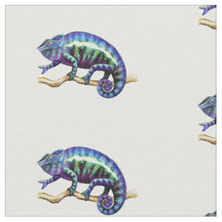 Blue Panther Chameleon Cotton Fabric