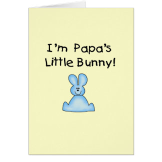 Blue Papa's  Little Bunny T-shirts and Gifts Greeting Card