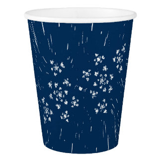 blue paper cup