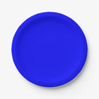 Blue Paper Plate