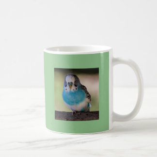 Blue Parakeet 11oz Classic White Mug Parrot Lovers