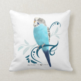 Blue Parakeet Cushion