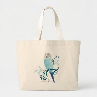 Blue Parakeet Jumbo Tote Bag