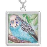 Blue Parakeet Necklace