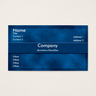 Blue Parchment Business Card
