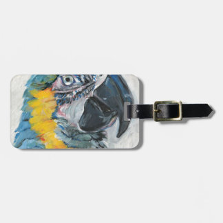 Blue Parrot Luggage Tag