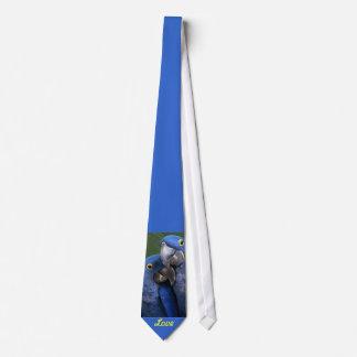 Blue Parrots Love Tie