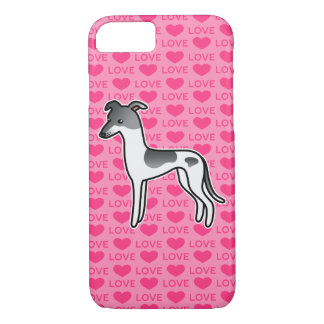 Blue Parti Color Greyhound / Whippet Love iPhone 8/7 Case
