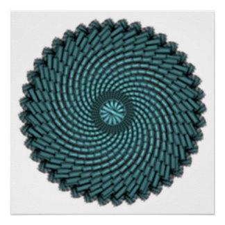 blue particles poster