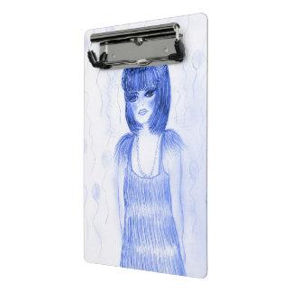 Blue Party Girl Flapper Mini Clipboard
