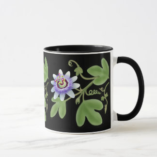 Blue Passion Flower Vine Mug