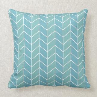 Blue Pastel Chevron Modern Two Tone Pattern Throw Pillow