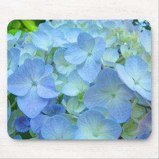 Blue Pastel Hydrangea Flowers mousepads Floral