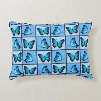 Blue Patchwork Butterflies 12x16in Decorative Cushion
