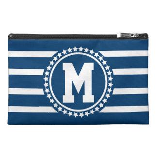 Blue Patriot Monogrammed Travel Accessory Bag