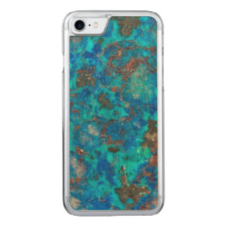 Blue patterened Shattuckite Carved iPhone 8/7 Case
