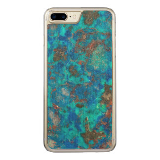 Blue patterened Shattuckite Carved iPhone 8 Plus/7 Plus Case