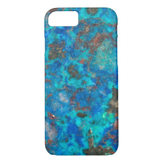 Blue patterened Shattuckite iPhone 7 Case