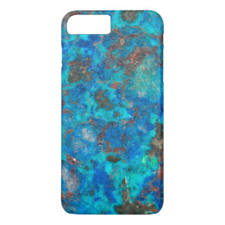 Blue patterened Shattuckite iPhone 7 Plus Case