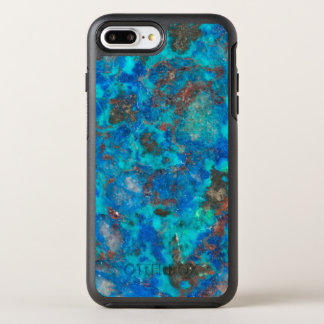 Blue patterened Shattuckite OtterBox Symmetry iPhone 7 Plus Case
