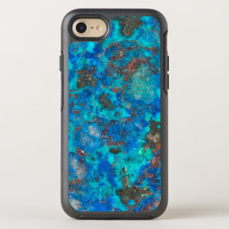 Blue patterened Shattuckite OtterBox Symmetry iPhone 8/7 Case