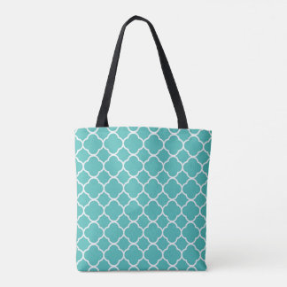 Blue pattern all over print bag