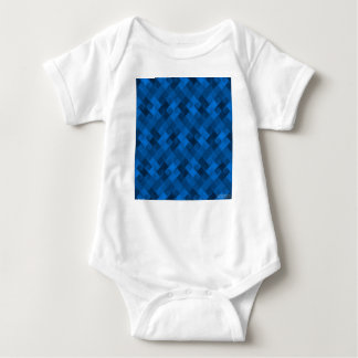 Blue Pattern Baby Bodysuit
