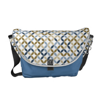 Blue pattern Bag Messenger Bag