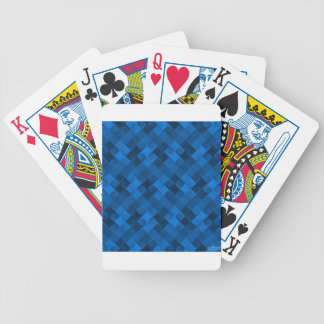 Blue Pattern Bicycle Playing Cards