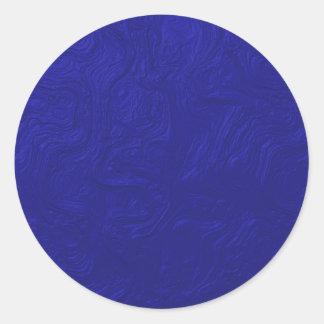 blue pattern classic round sticker