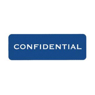 Blue Pattern CONFIDENTIAL label II
