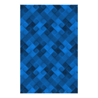 Blue Pattern Custom Stationery